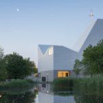 Moderner Kirchenneubau in Poing, die Beleuchtung wurde geplant von Lunalicht