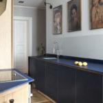 Boris Pizzeghello Architekten, Altbauwohnung, Küche, Farbgestaltung