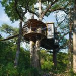 SPICEWOOD,_TX_-_JULY_1,_2019_-_Yoki_treehouse_at_Cypress_Valley_Canopy_Tours