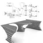 Modellzeichnung der Struktur im Work Café.