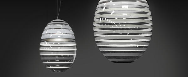 'Incalmo' vereint technische Innovation mit uraltem Handwerkwissen zu einem Objekt in perfekter Harmonie. Des. Carlotta de Bevilacqua www.artemide.com