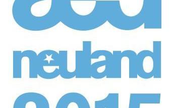 Das Logo des 'neuland'-Wettbewerbs 2015, der aller zwei Jahre stattfindet. Grafik: aed