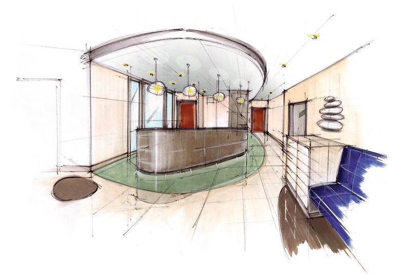 Innenarchitektur skizze  60 Jahre Innenarchitektur. Fels in der Brandung - md-mag