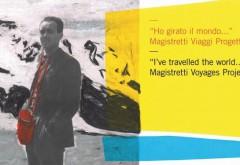 """""""I've travelled the world..."""": Magistretti in der Fondazione studio museo Vico Magistretti. Bis 29. Dezember 2015. Plakat: Archivio Studio Magistretti – Fondazione Vico Magistretti"""