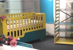 'Koyote' von Dörte Grau/kidskoje, www.kidskoje.com. Baby- und Kinderbett, Maltisch und Regal für Kinder von null bis sieben Jahren. Rückblick auf das Jahr 2014. Sonderschau 'future of kids design': Foto: Kind + Jugend