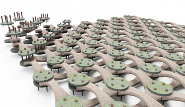 Jeongdae Kim ist einer der drei Preisträger des VDID Newcomers' awards. Er entwickelte Module 'MLKL Moleküle' aus natürlichen Materialien zur Wiederaufforstung. Foto: Verband Deutscher Industrie Designer, VDID