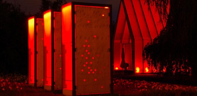 Architektur als Träger des Lichts. Kategorie Event/Messen, LichtKirche, Lichtplanung: Raum-Z Architekten, Foto: EKHN- M. Hartmann
