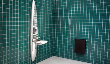 'Medley' ist eine platz- und kostensparende, multifunktionale Kombination aus Waschbecken und Dusche. Foto: iF