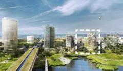 Das Seeparkquartier 'aspern' ist eines der größten Stadtentwicklungsprojekte Europas. Die Seestadt Wien liegt im Osten der Stadt. Rendering/Foto: Schreinerkastler