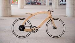 Gewinner Kategorie Mobilität/Newcomer: Das 'Wooden ebike' wird CO2-neutralhergestellt, indem man klimaschädigendes Metall durch Eschenholz ersetzt. Design: Matthias Broda, Hersteller: www.aceteam.de. Foto: gp award