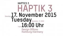 md Fachveranstaltung Haptik III – 'Die Bedeutung der Haptik im innenarchitektonischen Kontext' – in den Hamburger Design Offices. Anmeldung unter: http://events.md-mag.com/haptik/