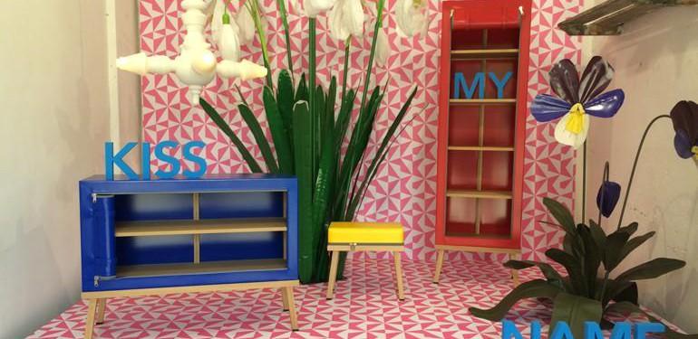 Mailand April 2016: In Ventura Lambrate zeigen Hochschulen und junge Designer auf hohem Niveau ihre Arbeiten. 'Kiss my name' – Installation der niederländischen Designgruppe Kassiewijle. Foto: Katharina Feuer