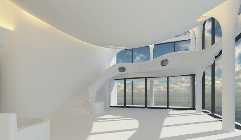 ... War Dem Bauherren Inspiration, Nach Dessen Wünschen Innenarchitektin  Irena Richter Die Zweigeschoßige Penthouse Wohnung In Der Elbphilharmonie  Entwarf.
