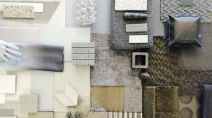 Materialcollage, Innenraumgestaltung