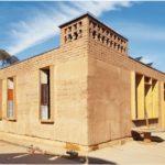 Lehmbaumodul, Der in drei Wochen realisierte Bau ist als Modul konzipiert, das mehrere Stockwerke hoch errichtet werden kann Foto: Team Afrikataterre