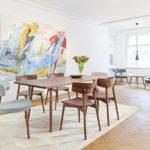 Designer-Stühle mit Esstisch, Augmented-Reality-Anwendung