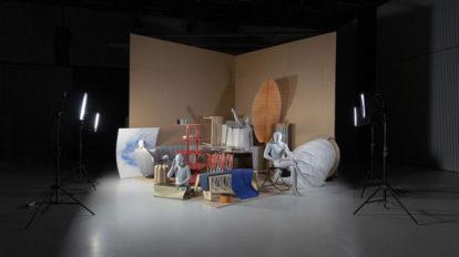 Ensemble der Studierendenarbeiten in der 'Ausstellung Workspace in Progress'