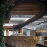 Holztheke, Lamellen, Komplits, Steak Restaurant, Bulle