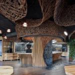 Gästebereich mit Blick in die Offene Restaurantküche, Komplits, Steak Restaurant, Bulle