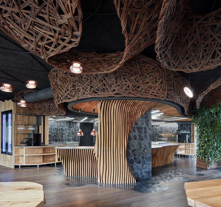 Komplits, Steak_Restaurant, Lamellenstruktur, Eiche,