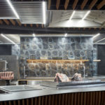 Offene Restaurantküche, Komplits, Steak Restaurant, Bulle