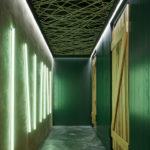 Grüne WC-Türen, Komplits, Steak Restaurant, Bulle