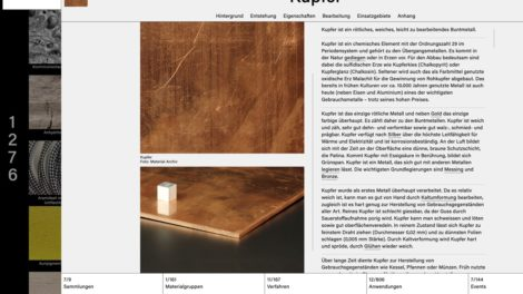 Material-Archiv, Kupfer