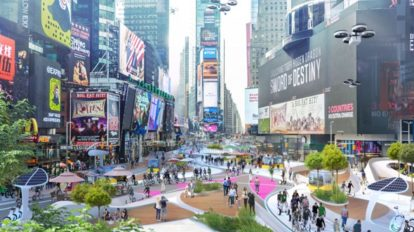 Transformation der Städte, Time Square, Visualisierung