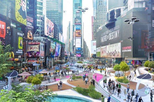 Transformation der Städte, Time Square, Visualisierung