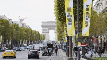 Champ Elysee während der Paris Design Week
