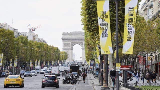 Champ Elysee während der Paris Design Week