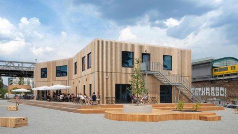 Wohngebäude in Holzbauweise B-Part in Berlin, nominiert für den Nachhaltigkeitspreis Architektur 2020