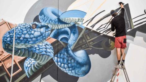 Graffitikunst im Stuttgarter Hauptbahnhof