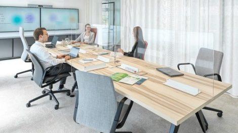 Neugestaltung der Büroräume, Raumplanung,Back to office, Aerosolschutz-Set