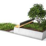 Weiteres Modul des Stadtmöblierungsprogramms 'Parklets 2.0' von Vestre. Rendering: Vestre: Rendering