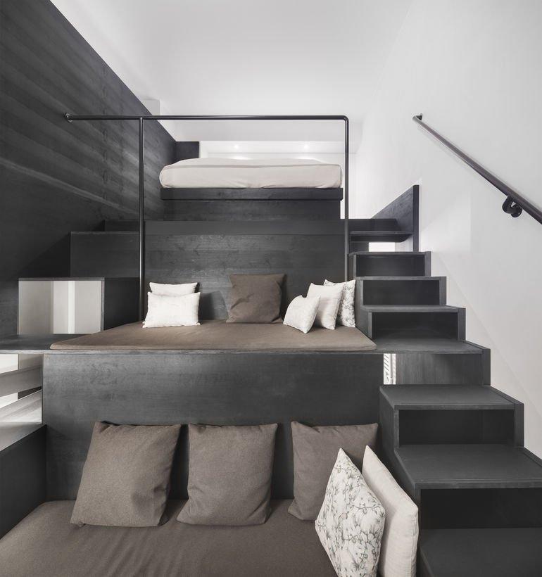 Reuter Schoger Die unteren Podeste dienen als Zusatzbett oder Lümmelfläche.