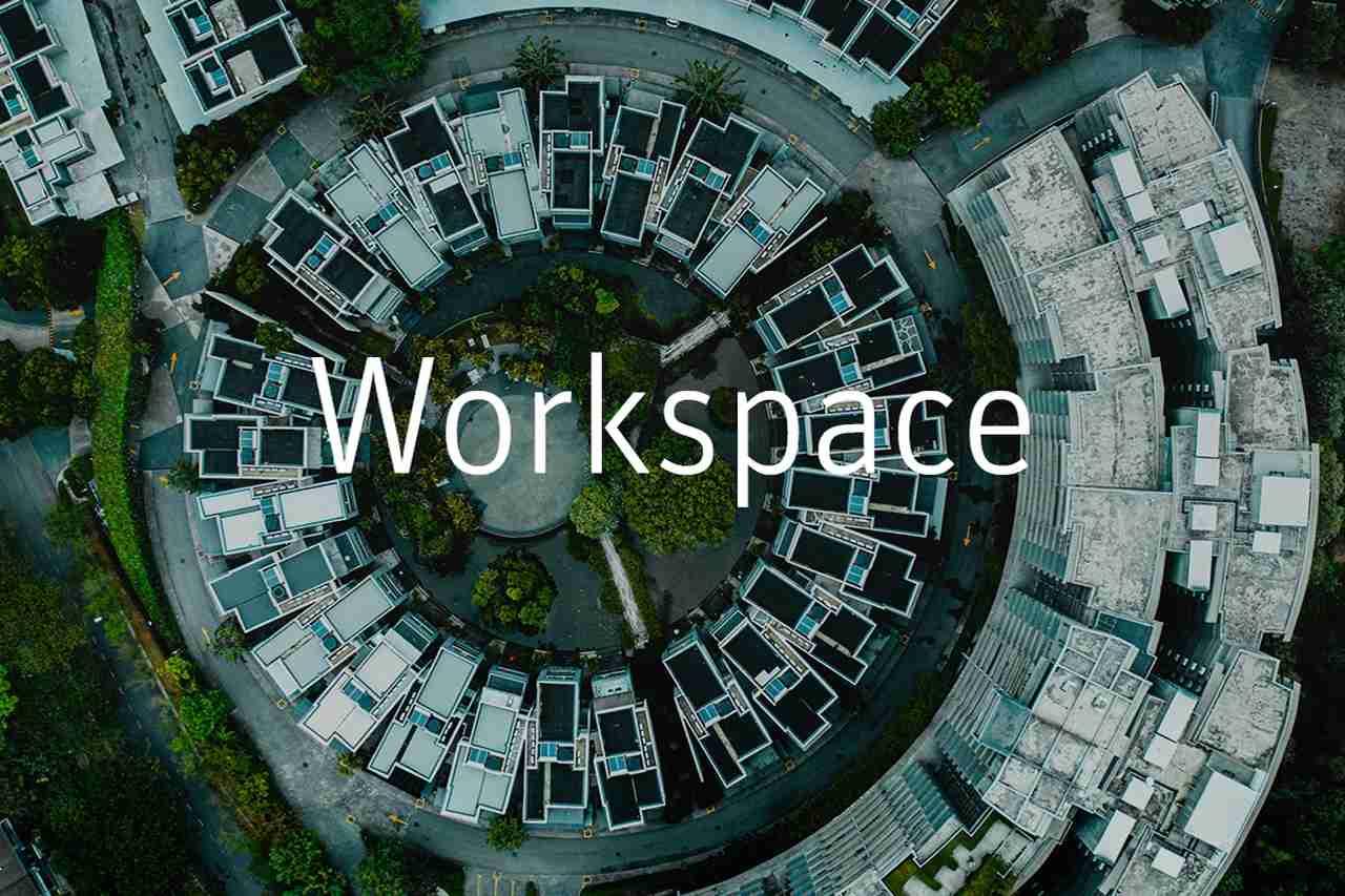 Bürogebäude von oben