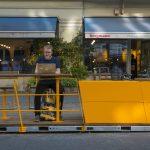 Das Stadtmöblierungsprogramm 'Parklets 2.0' von Vestre kommt in der Berliner Bergmannstraße zum Einsatz. Foto: Hanns Joosten