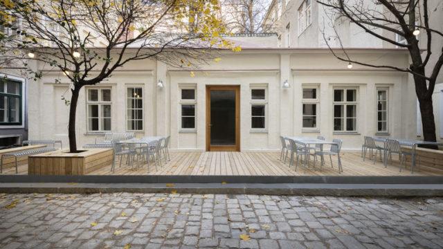 Außenansicht des Cafe Kandl in Wien
