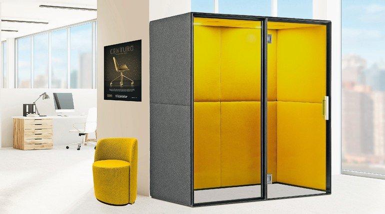 Raum-in-Raum-Systeme fürs Großraumbüro