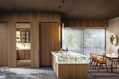 Holz und Stein sowie Wohnküchen prägen die Küchentrends 2021