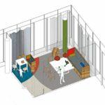Gestaltungskonzept, free now, Platz für Eltern und Kinder