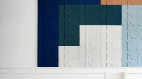 Raumakustik, Kinnarps, akustisch wirksam, Wandschallabsorber
