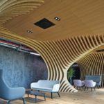 CMC Architects, Versteckte, ruhige Zonen im Work Café des Hauptsitzes der J&T Finance Group in Prag