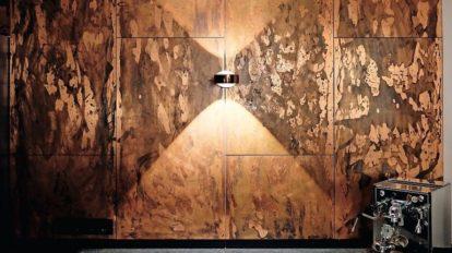 Küchenwand aus Kupfer von Material id, Küchengestaltung